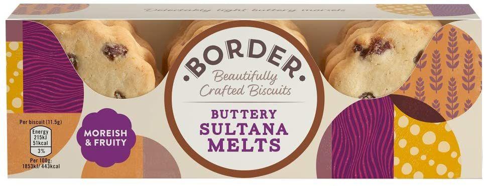 Border Biscuits Buttery Sultana Melts - 135g - Single Unit 1 (£4.49 p&p non prime) 85p/95p s&s @ Amazon
