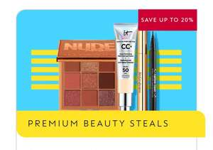 Save up to 20 percent on selected premium beauty - discount applied at Basket/£1.50 click and collect @ Boots