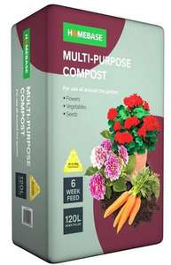 Homebase Multi Purpose Compost - 120L £8.95 @ Homebase Free Click & Collect (limited stock)
