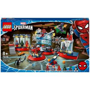 LEGO Marvel Spider-Man Attack on the Spider Lair Set (76175) £55.99 + £1.99 delivery at Zavvi