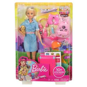 Travel Barbie doll - £11.50 (Clubcard Price) @ Tesco online / in store