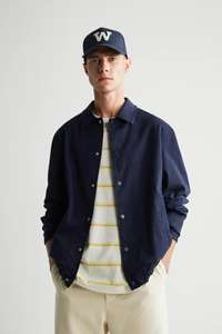 Men's cotton Jacket in Navy and oyster white £19.99 with free click and collect from Zara
