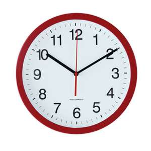 Argos Home Radio Controlled Wall Clock - Red £6.50 + Free click and collect in Limited Stores at Argos