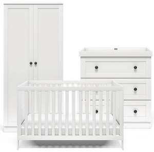 Bromley 3-piece nursery set - Cot bed Toddler bed Dresser Wardrobe £550 @ silvercrossbaby (UK Mainland)