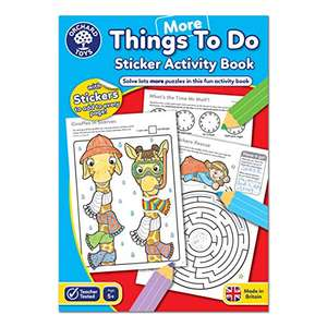 Orchard Toys More Things To Do Sticker Colouring Book £1.63 (Prime) + 99p (non Prime) at Amazon