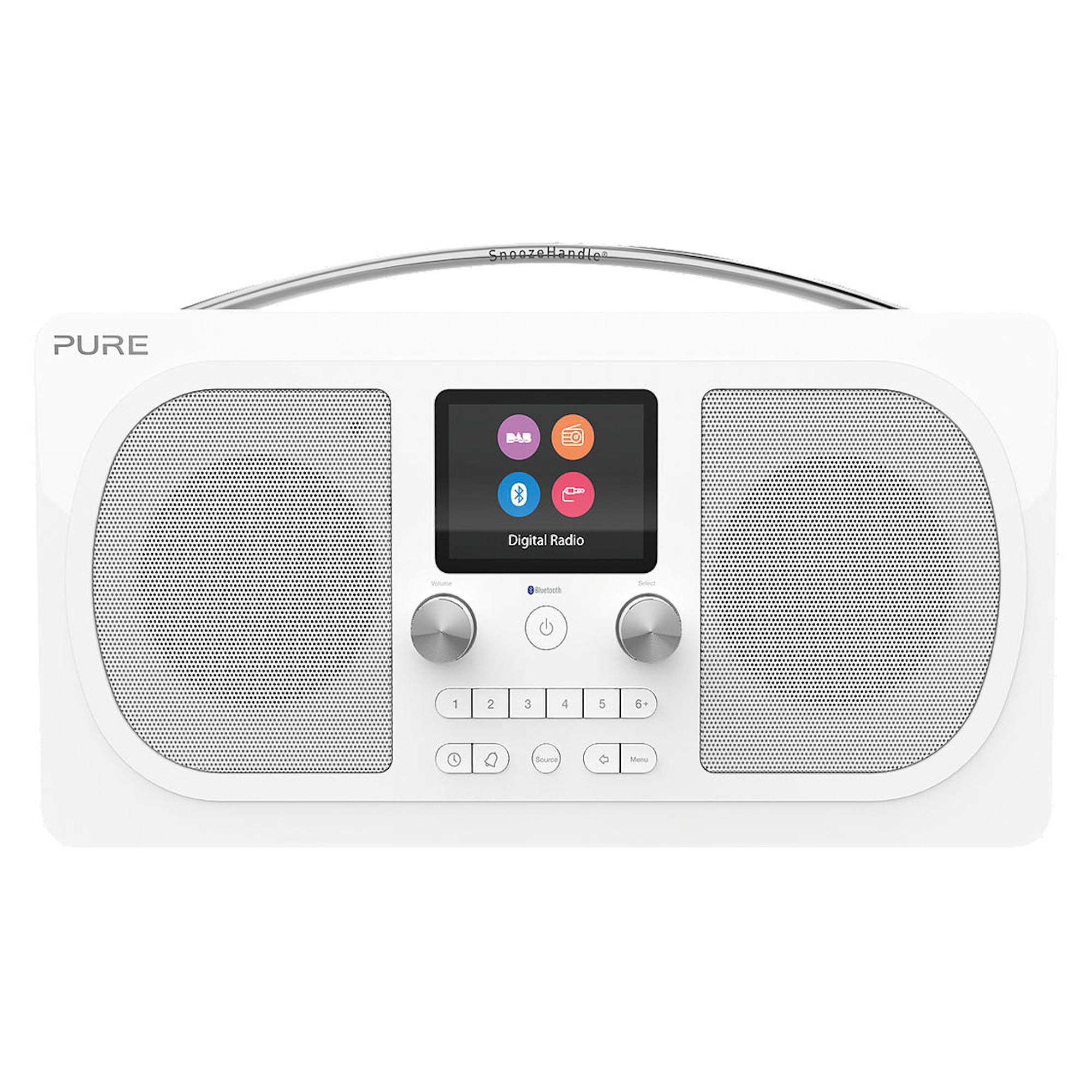 Pure EVOKE H6 PRESTIGE DAB/DAB+ Stereo Bluetooth Radio - White £147 @ Hughes