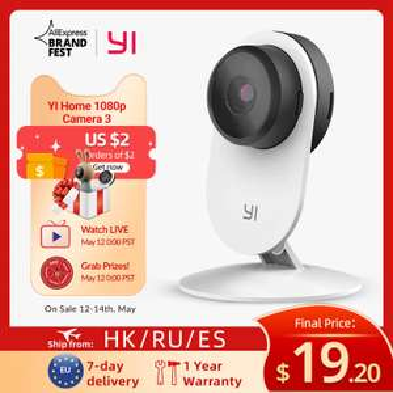 YI Home Camera 3 1080P HD AI Based Smart Home Camera £15.40 @ AliExpress / yi Official Store