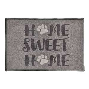 Home Sweet Home Paws Washable Doormat £3 with Free click and collect at Selected Stores from Dunelm