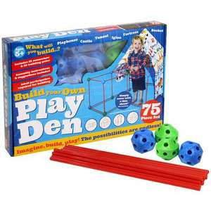 Build Your Own Den 75 Piece Kit only £11.59 with code (Store Collection) @ The Works