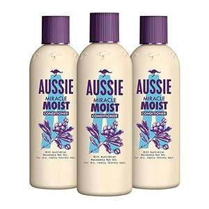 Aussie Miracle Moist Conditioner 250ml (Pack of 3) £4.46 (Prime) + £4.49 (non Prime) (UK Mainland) sold by Amazon EU at Amazon