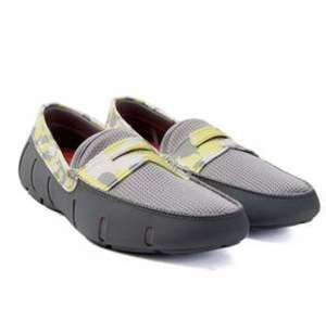 Swims Penny Loafer Shoes in Camo Grey & Lime £24.99 @ TKMAXX in Loughton London