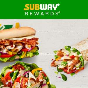 Subway Free Six Inch Sub (500 bonus points) when buy anything with Subway rewards app (invite only)