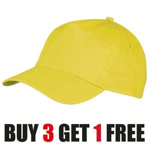 100% cotton baseball cap in orange, pink, purple, or yellow for £2.99 delivered @ eBay / shop_with_ebuy-gb