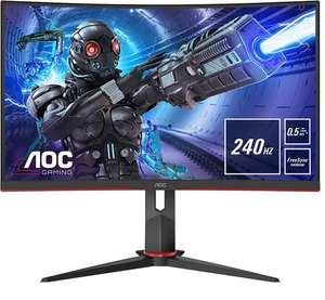 "AOC C27G2ZU/BK 27"" Full HD VA 300nits FreeSync Premium 240Hz Curved Gaming Monitor, £214.99 at Box"