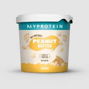 All-Natural Peanut Butter 1Kg £4.01 with code (P&P £3.99 / Free delivery over £20) @ MyProtein+
