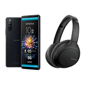 Sony Xperia 10 III Pre Order 5G SIM Free Black with Free WH-CH710N Noise Cancelling Headphones £399 @ Amazon