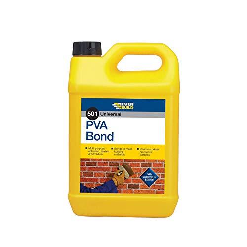 Everbuild PVA5L-EB 501 Universal PVA Bond, 5 Litre £6.65 (Prime) + £4.49 (non Prime) at Amazon