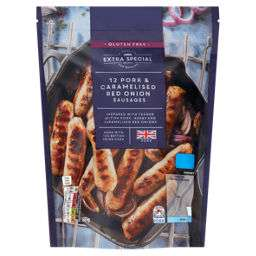 12 Pork and Caramelized Onion Sausages 45p @ Asda (Gloucester)
