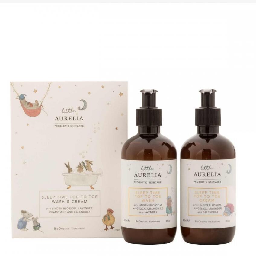 Little Aurelia Sleep Time Top to Toe Wash & Cream Duo - Bio-Organic & Sulphate Free - £22 delivered @ Aurelia Skincare
