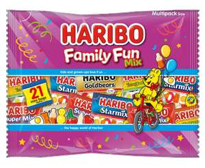 Haribo Family Fun Mix 21 Packs are 99p @ Farmfoods