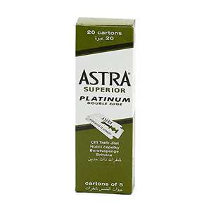 Astra Superior Platinum Razor Blades, Pack of 100, Green £6.58 or £6.25 Subscribe & Save (£4.49 Non-Prime) @ Amazon
