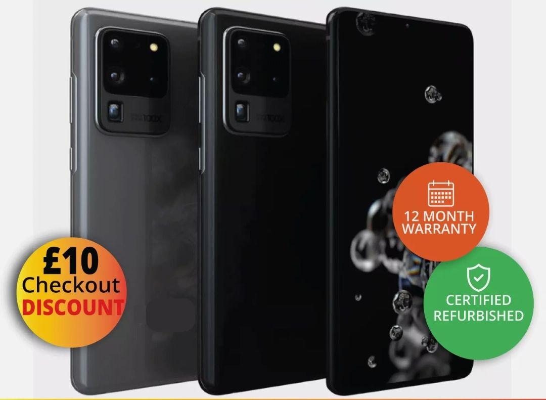 Samsung Galaxy S20 Ultra 5G - 128GB Smartphone (Refurbished Grade B 'Good' Condition) - £447.99 Delivered @ Handtec / eBay