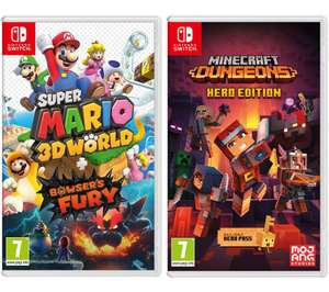 Super Mario 3D World + Bowser's Fury And Minecraft Dungeons £52.99 Another £5 OFF With Code @ Currys PC World