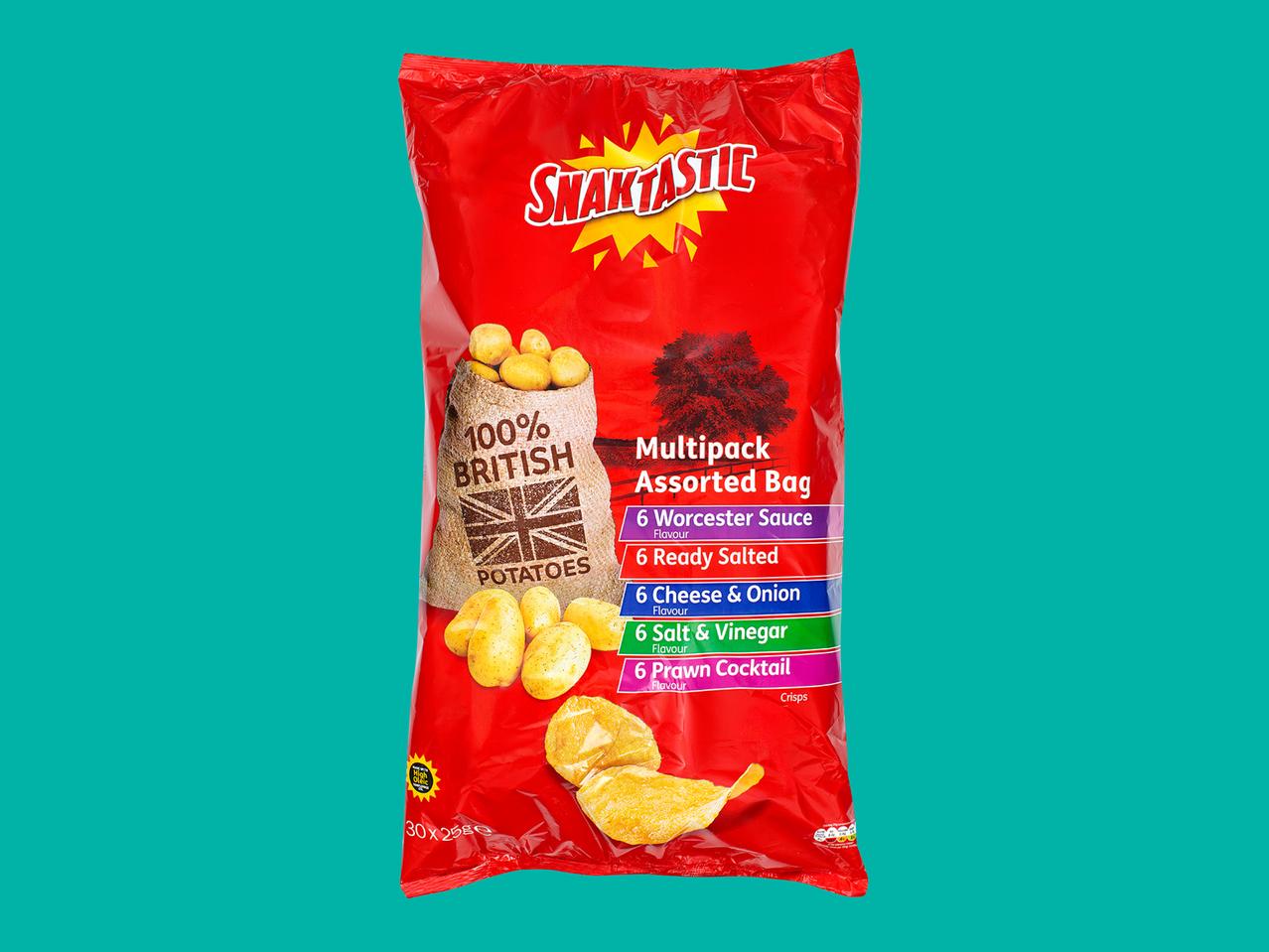 Snaktastic Crisps 30 x 25g £1.99 @ Lidl