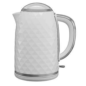Diamond Effect White OR Black 1.7L Kettle & 2 Year Guarantee £16 + Free Click & Collect @ Asda
