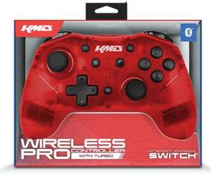 KMD Red Bluetooth Wireless Pro Controller For Switch £23.49 @ 365Games