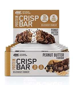 Optimum Nutrition whey Protein Crisp Bar, Peanut Butter, 10 Bars £15.95 (+£4.49 Non Prime) @ Amazon