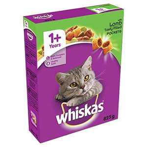 Whiskas 1+ Cat Complete Dry Cat Food for Adult Cats - Lamb 5 x 825g £6.86 prime / £11.39 non prime (£4.80 with s&s + 20% voucher) @ Amazon