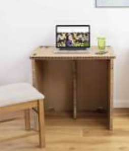The Paper Hive Pop Up Cardboard Desk - £26.99 with code @ Ryman