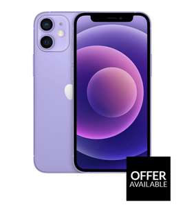 Apple iPhone 12 mini, 64Gb - Purple £624 (£574 via BNPL) @ Very
