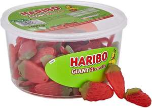 HARIBO Giant Strawberry Bulk Sweets, 1 kg £4.50 / As low £3.83 via s&s (+£4.49 non prime) @ Amazon
