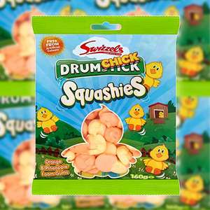 10 x Swizzels DrumChick Squashies Easter Sweets 160g Packs £4 (Best Before 31/07/2021) @ Yankee Bundles