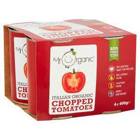 Mr Organic Italian Organic Chopped Tomatoes 4x400g £3.15 @ Waitrose & Partners