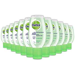 Dettol Hand Sanitiser Gel with Aloe Vera, Multipack of 12 x 50ml £4.99 (+£4.49 non-prime) - Sold by EI - Retail and Fulfilled by Amazon.