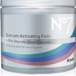 No7 Serum Activating Pads 3 for price of 1 / 3 for 2 and half price - £23 (+ £1.50 Click and Collect / £3.50 delivery) @ Boots