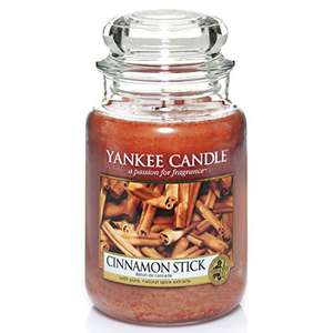 Yankee Candle Scented Candle Cinnamon Stick Large Jar Candle £10.81 (+£4.49 non prime) @ Amazon