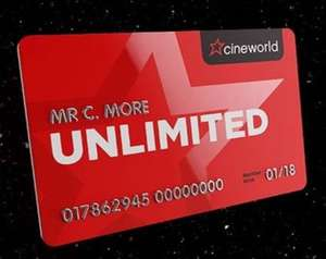 Cineworld Unlimited membership via Tesco Clubcard from £40 of vouchers a year at Tesco