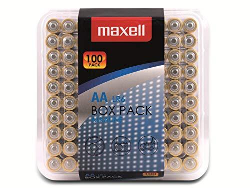 Maxell Alkaline LR6 AA Batteries Box Pack (100 Pack) £11.42 prime (£4.49 p&p non prime) @ Amazon