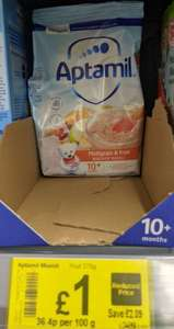 Aptamil multigrain and fruit for 10+ m baby £1 at ASDA in-store at Falkirk