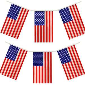 USA Premium Quality America Flag Bunting Huge 10M Party Decoration Banner (total 24 flags) - £2 delivered @ Yankee Bundles