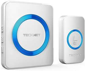 TECKNET Wireless Doorbell - £10.99 Prime with voucher / +£4.49 non Prime Sold by BLUETREE and Fulfilled by Amazon