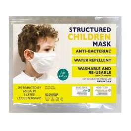 Medalin Structured Children Mask - Anti-bacterial - Size 4-8 Years £4.45 delivered @ Chemist.co.uk