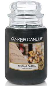 Yankee Candle Scented Candle | Singing Carols Large Jar Candle | Up to 150 Hours Burn Time - £11.24 Prime / +£4.49 non Prime @ Amazon