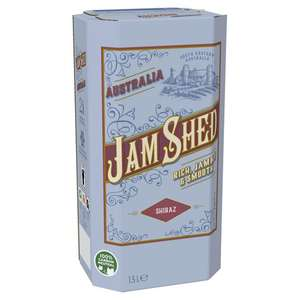 Jam Shed Shiraz 1.5L box for £11 @ Tesco (equivalent to £5.50 per bottle - Clubcard price)