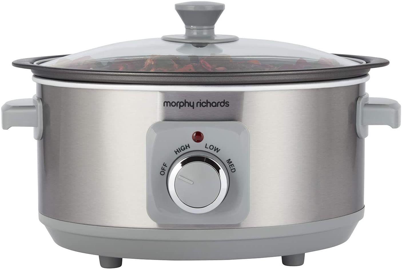 Morphy Richards 460018 Sear & Stew 3.5 Litre Aluminium Slow Cooker, One-Pot Solution - £16.99 prime/+£4.49 Non Prime @ Amazon