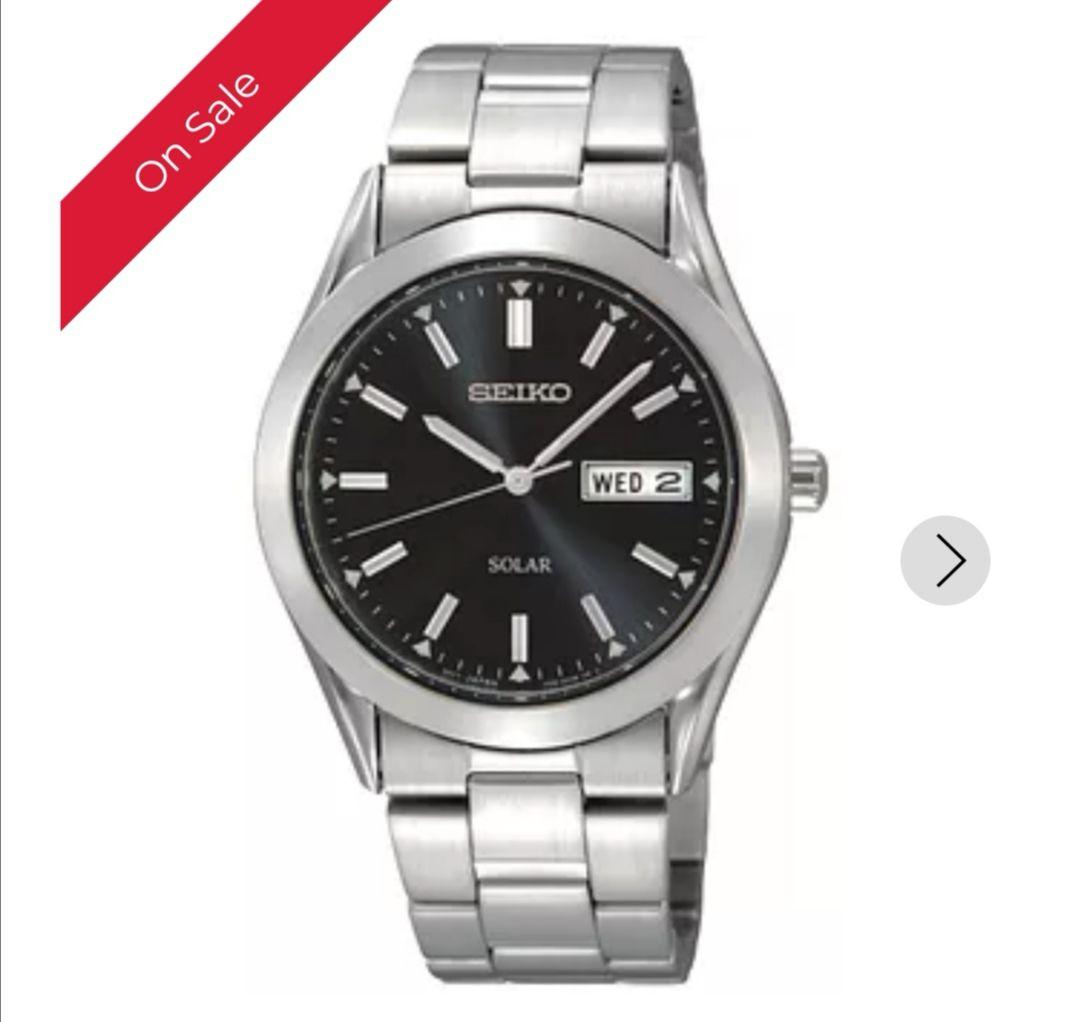 Seiko Men's Stainless Steel Bracelet Watch £79 @ H Samuel